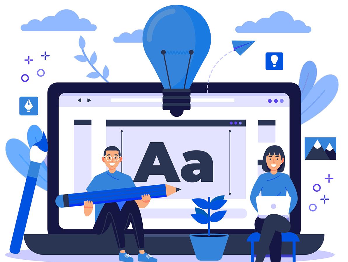 A website designer creates