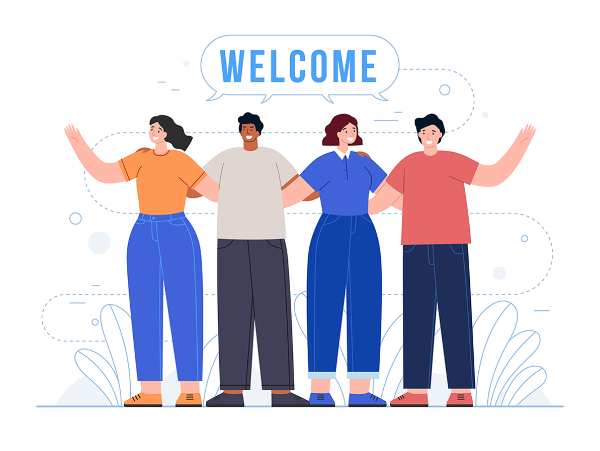 Welcome them