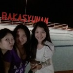 Hazel and her daughters at Bakasyunan