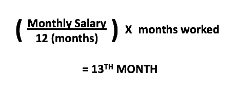 13th month bonus philippines