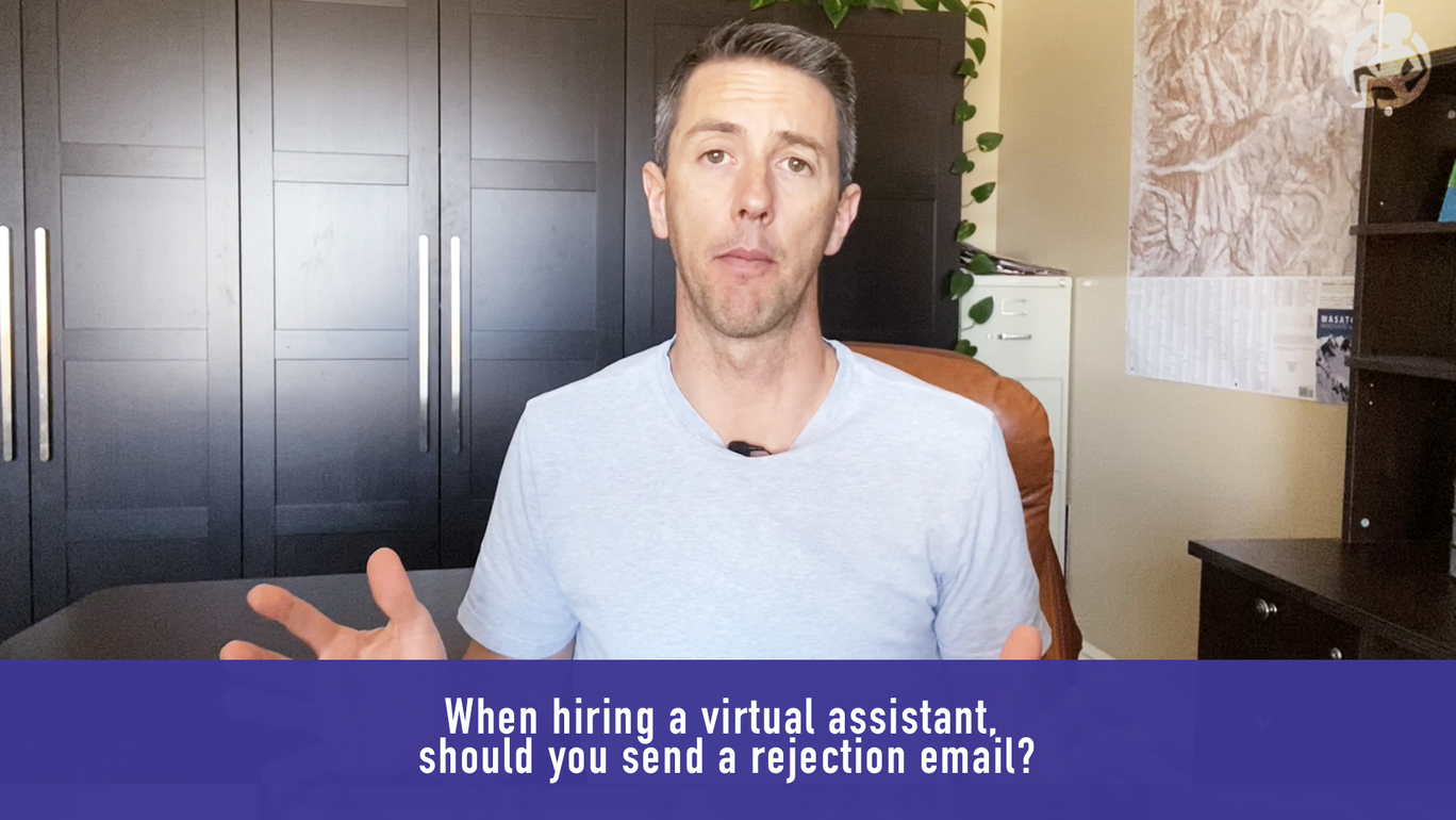 When hiring a virtual assistant, should you send a rejection email? – Practical Advice