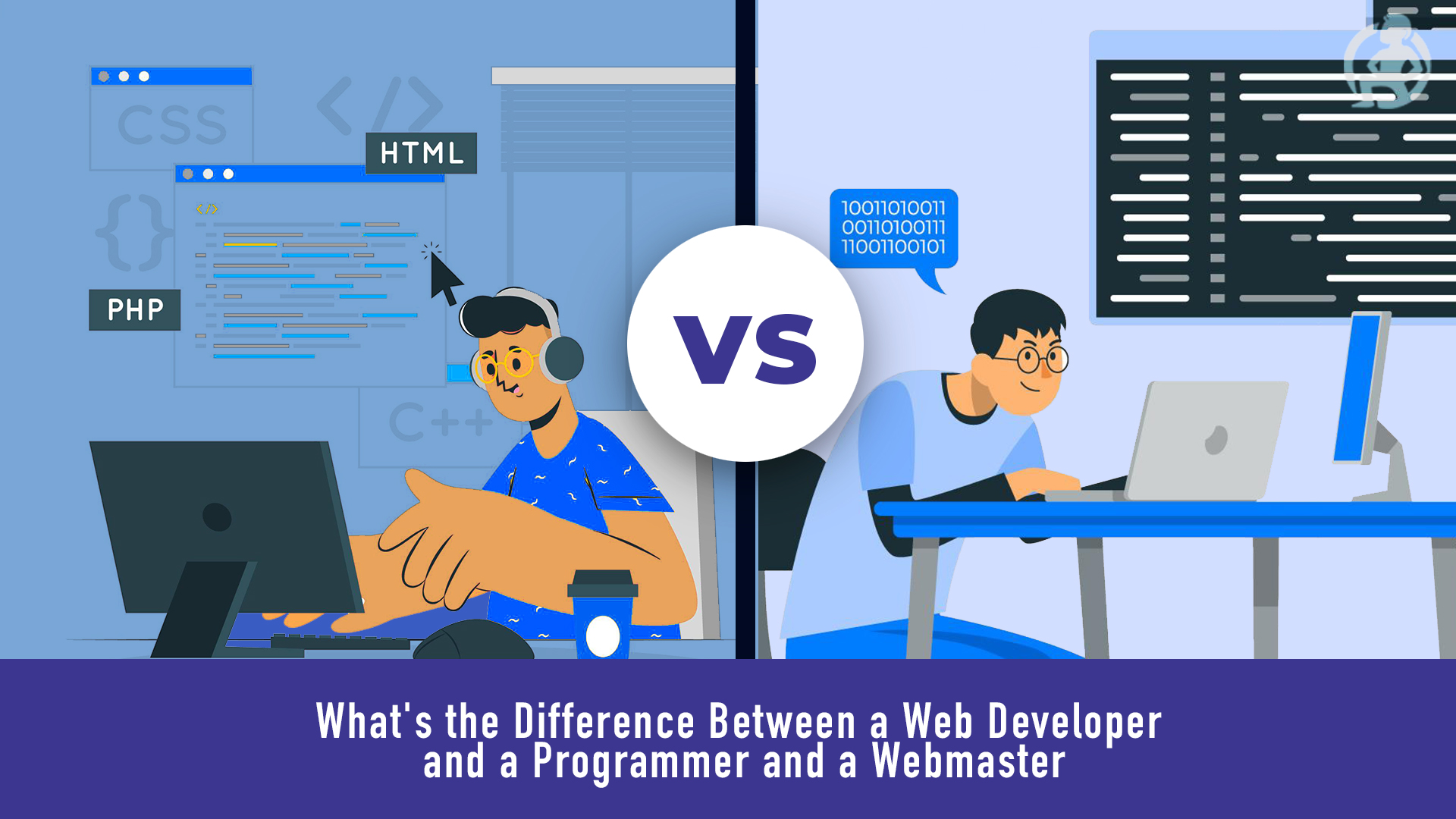 What's the Difference Between a Web Developer and a Programmer and a Webmaster